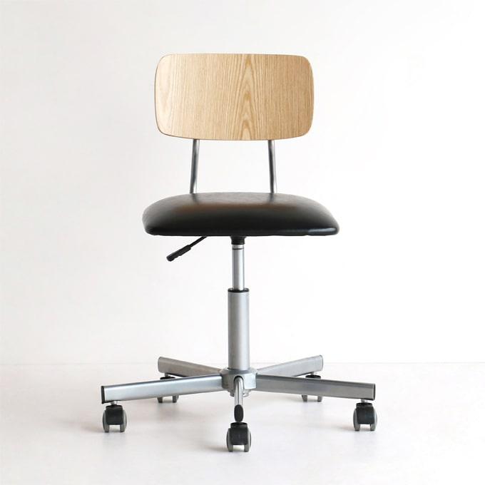 椅子 キャスター付き オーク材使用