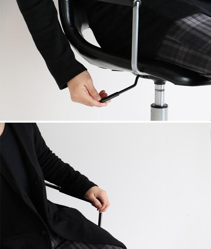 座面の高さを調節できる椅子