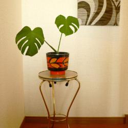 ac0187オレンジのレトロな陶器鉢カバー*amber design*北欧家具やビンテージ雑貨等のインテリア通販