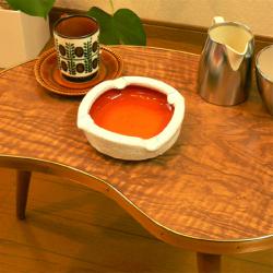 ac0214レトロなガラストレイ*amber design*北欧家具やヴィンテージ雑貨等のインテリア通販