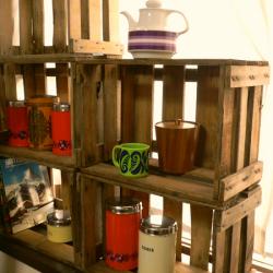ac0193西ドイツ製グリーンのフラワーベース*amber design*北欧家具やビンテージ雑貨等のインテリア通販