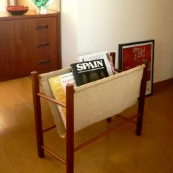 ft0208デンマークの木製マガジンラック*amber design*北欧家具やビンテージ雑貨等のインテリア通販