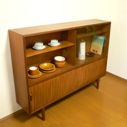ac0184白オレンジ色のアートな陶器花瓶*amber design*北欧家具やビンテージ雑貨等のインテリア通販