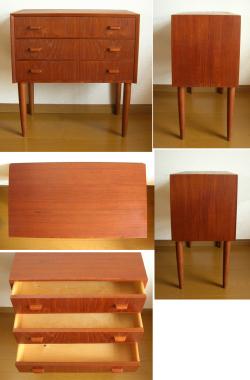 ft0284デンマークのミニチェスト*amber designビンテージ北欧中古家具アンティーク雑貨通販アンバーデザイン
