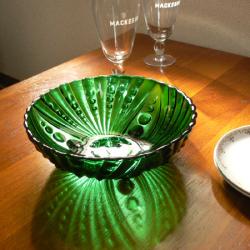 ft0165 FireKingデザートボウルForest Green ベリーボウル *amber design*北欧中古家具やビンテージ雑貨等のインテリア通販