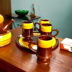 ft0215アンティークなタイルトップミニテーブル*amber design*北欧家具やビンテージ雑貨等のインテリア通販