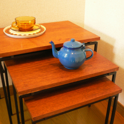 tw0240フェデラル社製ガラスボウル*amber design*北欧家具やビンテージ雑貨等のインテリア通販
