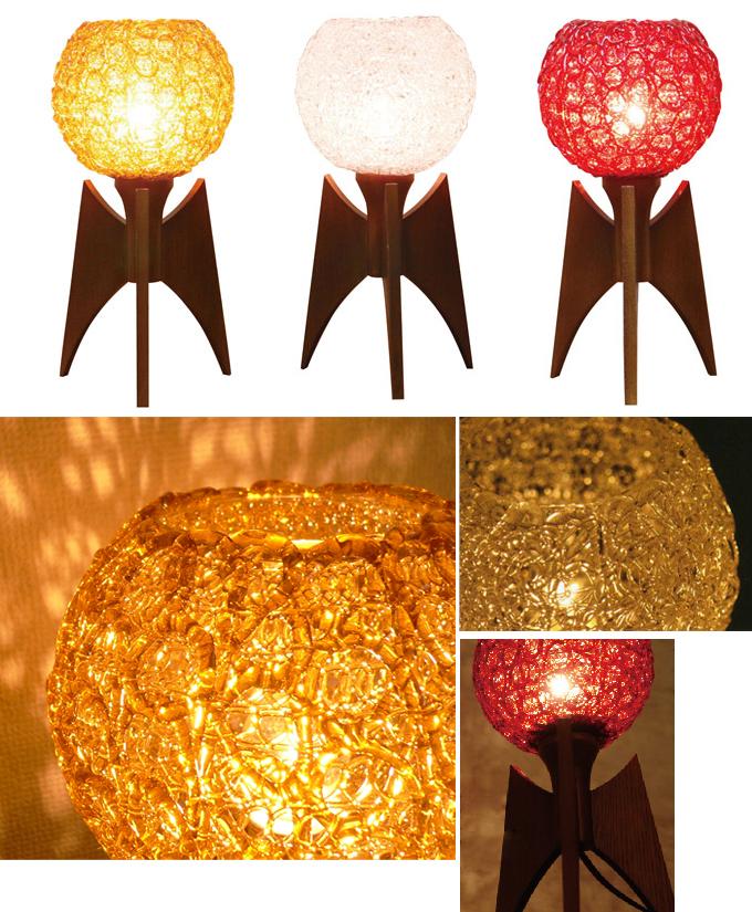 lt0065レトロなスパイラルテーブルライト*amber design*北欧家具やヴィンテージ雑貨等のインテリア通販