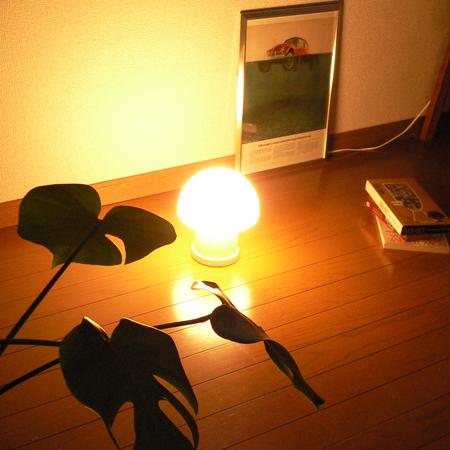lt0075マッシュルーム型テーブルライト*amber design*北欧家具やヴィンテージ雑貨等のインテリア通販