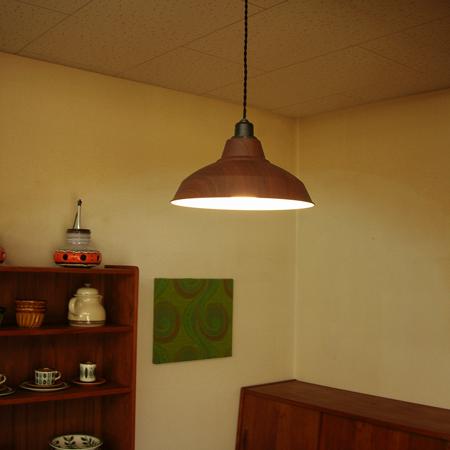 ペンダントライト 木目 LED電球使用可