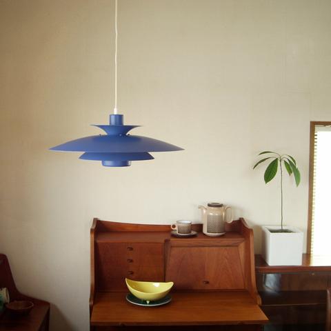 デンマーク製ビンテージ照明 ブルー