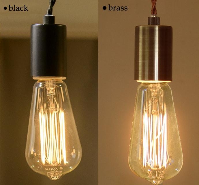 バルブライト 黒・真鍮色