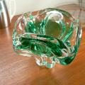 ムラノガラス アッシュトレイ クリアグリーン