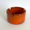 ac0182ビンテージ陶器オレンジ灰皿