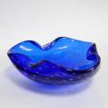 ムラノガラス アッシュトレイ ブルーバブル
