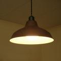 木目柄ランプシェード照明