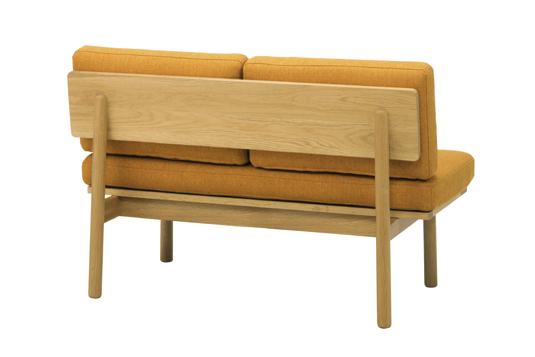 無垢材の木枠ソファ2人掛け