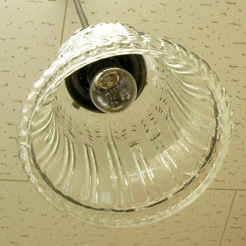 ガラス照明ベル型