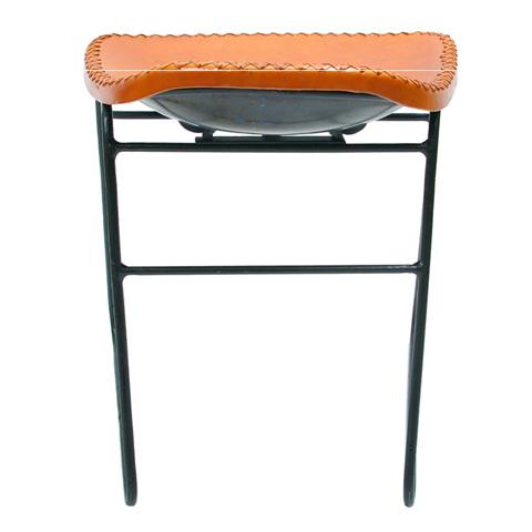 本革のミニスツール椅子