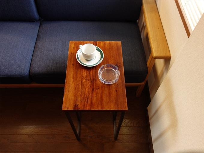 ソファテーブル ビンテージ風