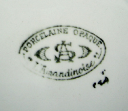 tw0168 フランスアンティーク L Amandinoiseのディナープレート