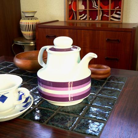tw0212ドイツBavaria製陶器ティーポット*amber design*北欧家具やビンテージ雑貨等のインテリア通販