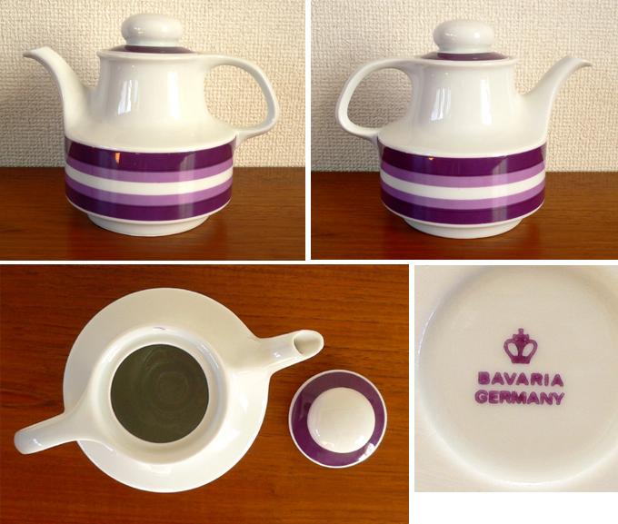 tw0212ドイツBavaria製陶器ティーポット