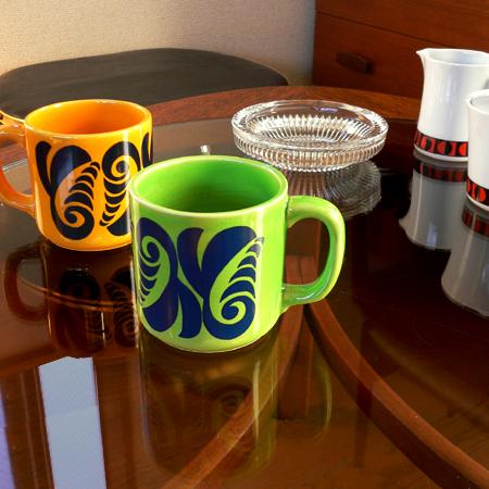 tw0213レトロなマグカップセット*amber design*北欧家具やビンテージ雑貨等のインテリア通販