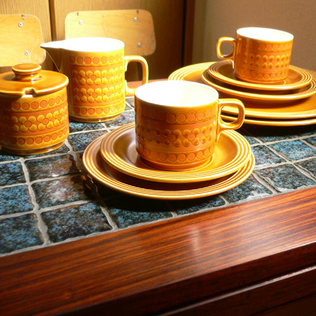 tw0226イギリスHORNSEA Saffron コーヒーカップトリオ*amber design*北欧家具やビンテージ雑貨等のインテリア通販