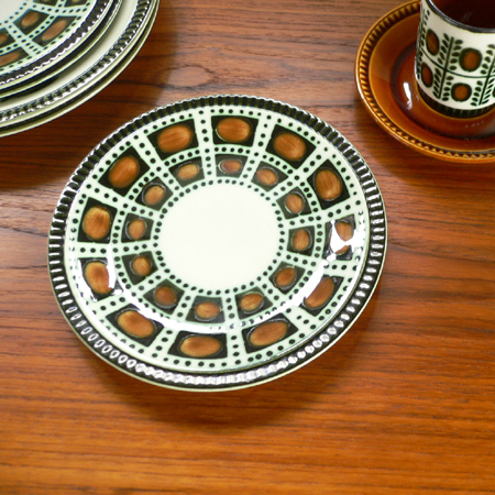 tw0242ベルギーBOCH Bernadetteデザートプレート*amber design*北欧家具やビンテージ雑貨等のインテリア通販