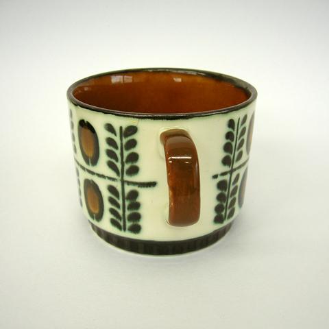 アンティークBOCH陶器カップ&ソーサー