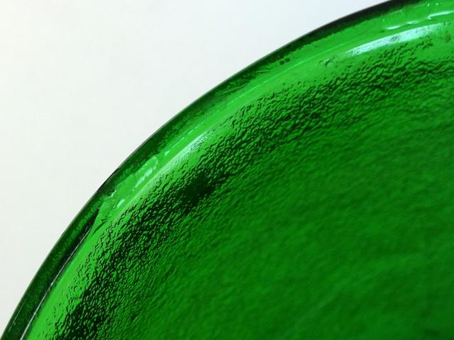 ビンテージガラス グリーン