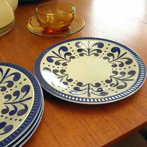 50年代BOCH陶器デザート皿