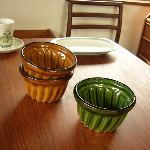 陶器プリン型アンティーク