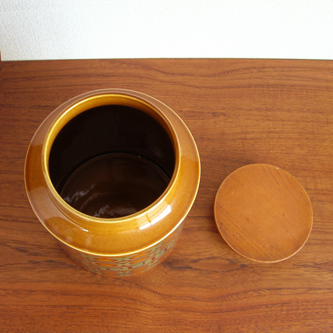ヴィンテージ陶器キャニスター
