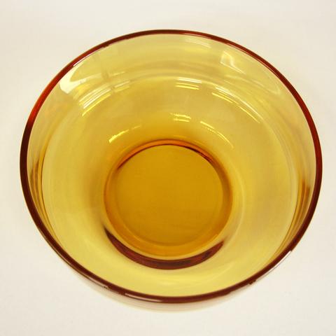 レトロなアンバーガラス器