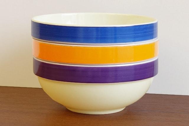 ビレロイボッホ ボウル オレンジ 青 紫