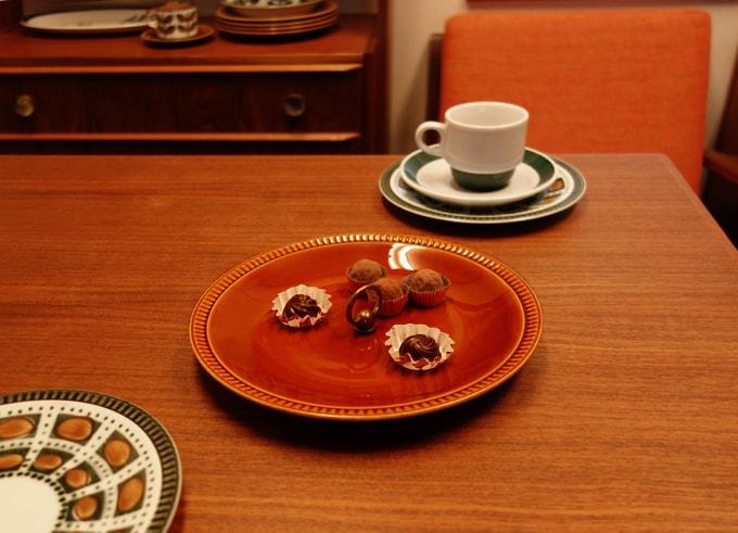 BOCHビンテージ食器 ブラウン皿