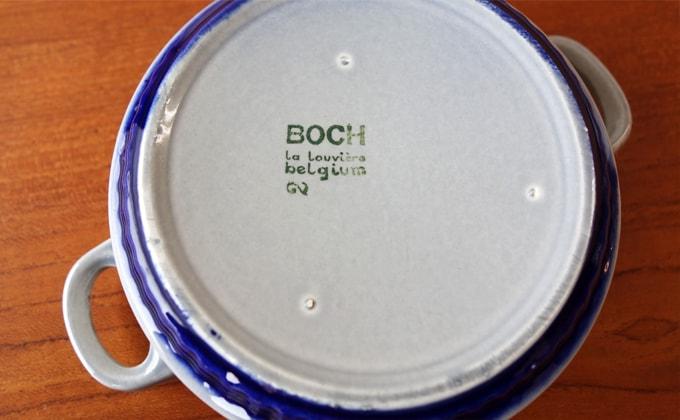 ベルギーBOCH陶器 刻印