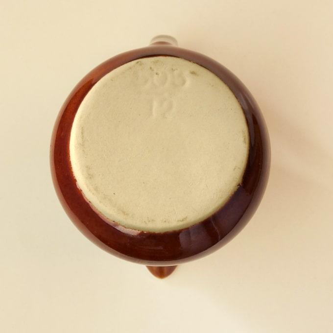 ビレロイボッホ陶器クリーマー刻印