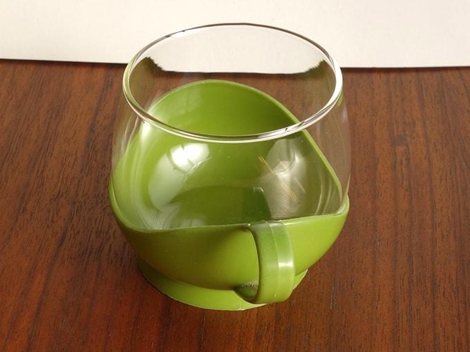 ドイツMelitta製レトロなガラスカップ ホルダー付き