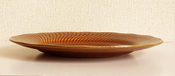 BOCHデザート皿 茶色 横