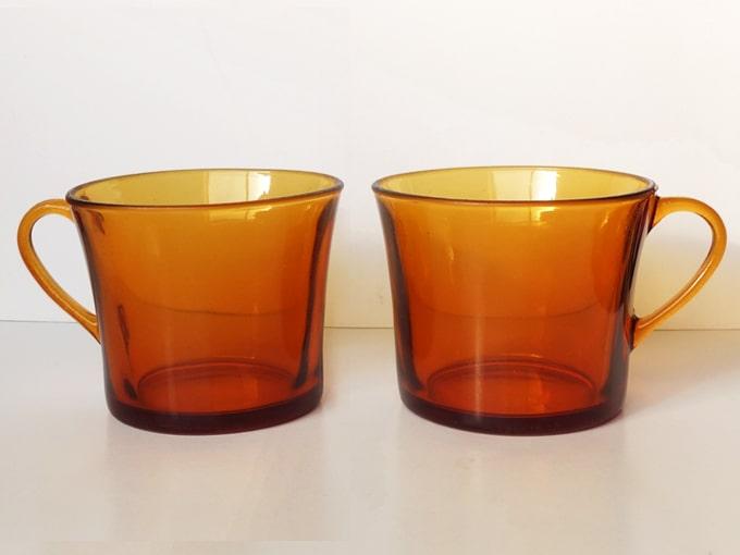 DURALEXアンバーガラスカップ