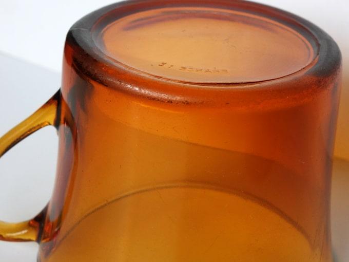 アンバーガラスカップ ビンテージ
