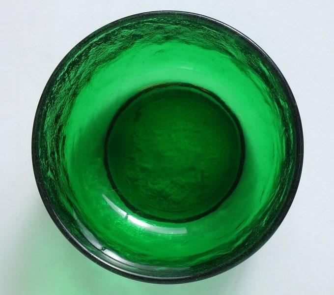 緑ガラスボウル内側