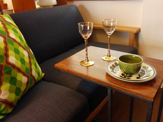 ヴィンテージの金色ボーダーワイングラスS