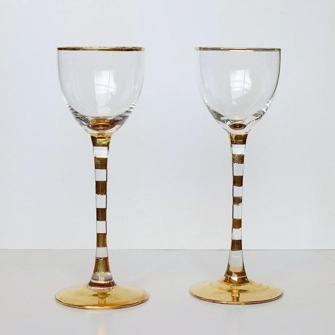 ワイングラスS ゴールドライン
