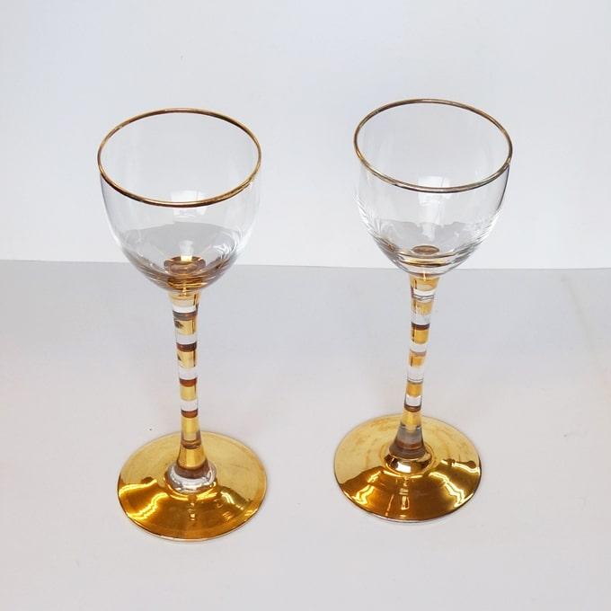 ヴィンテージのワイングラス 直径6cm
