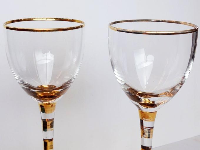 ヴィンテージのワイングラス2個セット 小さめ