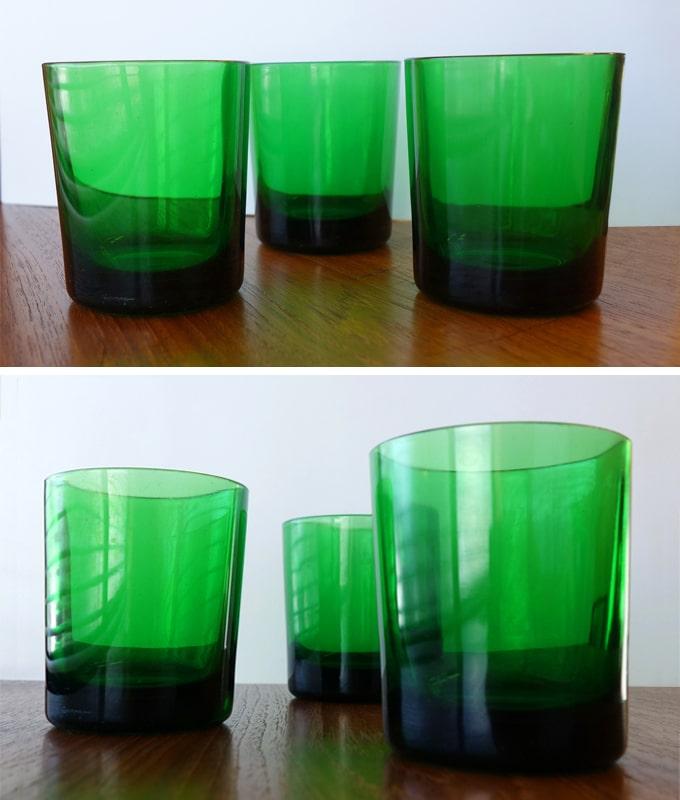 グリーンガラス コップ